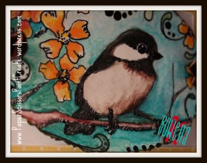 Memo board bird close up